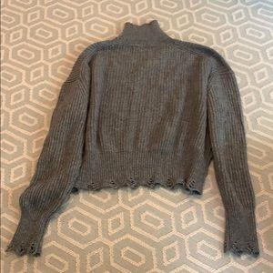 Grey shirt turtle neck sweater
